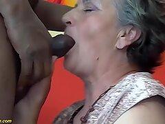 my chubby hairy bush grandma enjoys her first big black cock interracial porn lesson