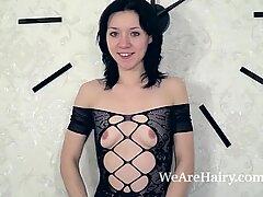 Eva Lisana masturbates with toys in bed
