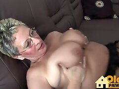 Blonde Granny and her affair