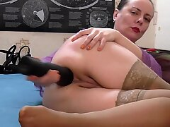 Dildo anal gaping on webcam