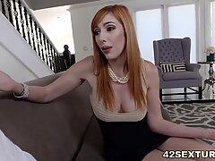 Hairy redhead pornstar Lauren Phillips
