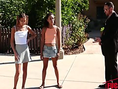 Aria Skye and Raquel Diamond in Hopskeet With Some Petites