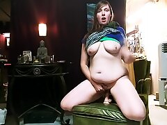 six ejaculations while riding my Husbands dildo!? Yes satisfy!!
