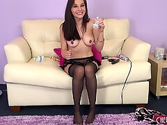 Cytherea using a faux-cock to sploog