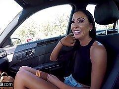 Real MILFs - Tiffany Brookes POV dick sucking in public