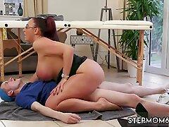 Big Tit Step-Mom Gets a Massage - Emma Butt