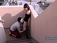 Slender Jav Teen Babe Chan Fucked On Stairs Outdoors Skinny Ass Cutie Looks Fab