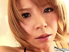 Sumire Matsu pulls out her nice tits to tease the cameras and her guys
