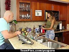 TeenPies - Filling Up Bushy Teen With Cum