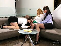 Three stunning women enjoyed lesbian sex
