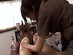 Softcore lesbian toy pleasures for Maika on the massage table - More at jav