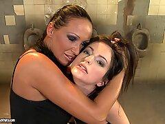 Anna Marie La Sante lesbian punished in public toilet