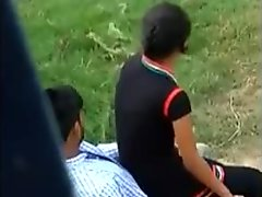 Indian young couple outdoor xxx