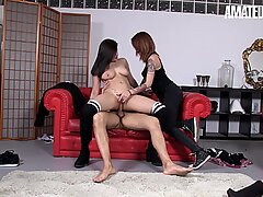 AmateurEuro - Asian Babe Gets Fucked In Hot Threesome