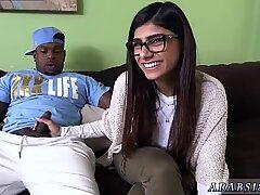 And girl blowjob Mia Khalifa Tries A Big Black Dick - Mia White