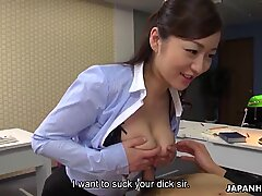 Japanese office lady Maria Ono is naughty, uncensored