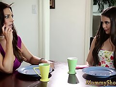 Hairy milf sixtynined by naughty stepdaughter