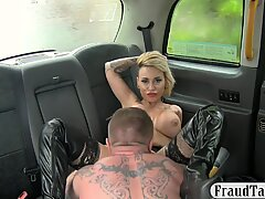 Tattooed emo babe with big tits gets pounded for free