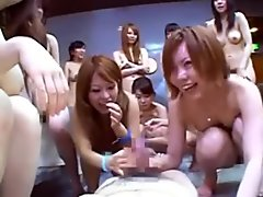 Japanese reverse gang bang