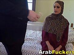Big White Cock For Cash Starved Arab Girl