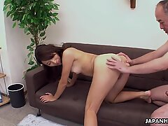 Asian sweet heart getting her pussy doggy styled