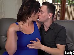 Young stud worshipping Montse Swinger and fucks her cougar pussy until he and she cums