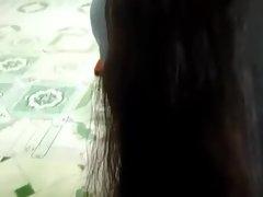 Vietnamese long hair schoolgirl