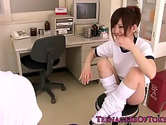 Japanese teen orgasms in classroom