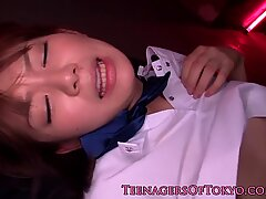 Cute Japanese girl gets it from behindReport this video