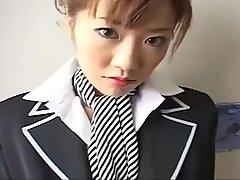 Japan stewardess with collar over collar